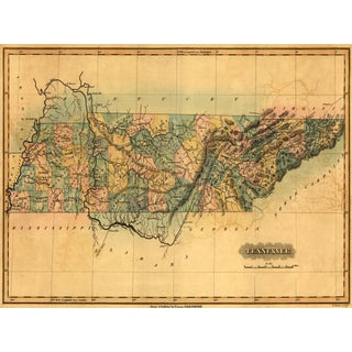 1826 Map of Tennessee For Sale
