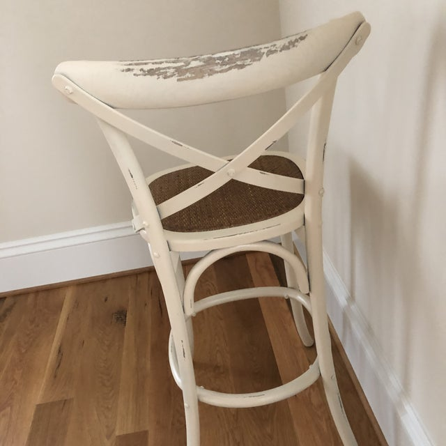 French Style Cadence Counter Stools - a Pair For Sale In Washington DC - Image 6 of 8