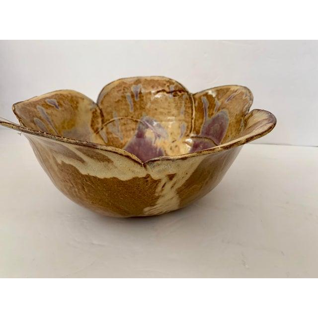 Mid-Century Modern Glazed Terra-Cotta Bowl For Sale - Image 3 of 11