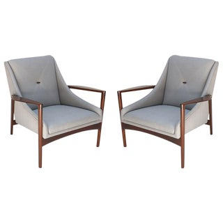 Ib Kofod Larsen Lounge Chairs-A Pair For Sale