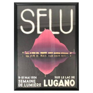 1934 Lugano Swiss Film Festival Poster For Sale