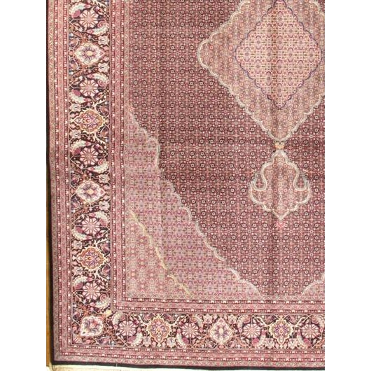 Persia Sino Tabriz design. Lamb's wool pile. Pure Silk on a Silk Foundation Rug. Hand-Knotted. From China.