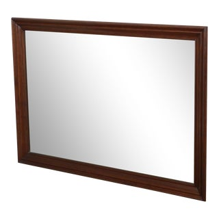 Ethan Allen Traditional Vintage Solid Cherry Frame Wall Mirror For Sale