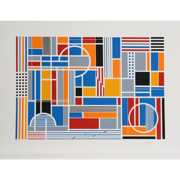 Artist: Gisela Beker, German/American (1932 - 2015) Title: Labyrinth Year: circa 1979 Medium: Serigraph, signed and...