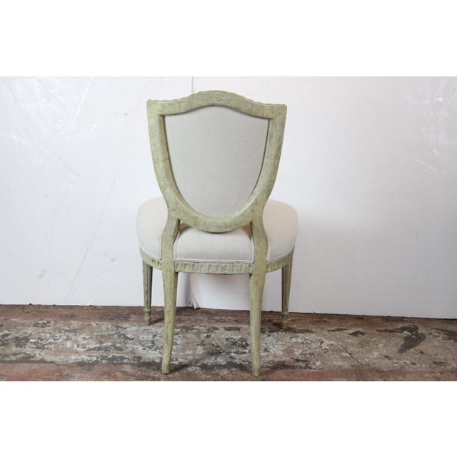 Late 20th Century 20th Century Louis XVI Style Off-White Side Chairs - a Pair For Sale - Image 5 of 6