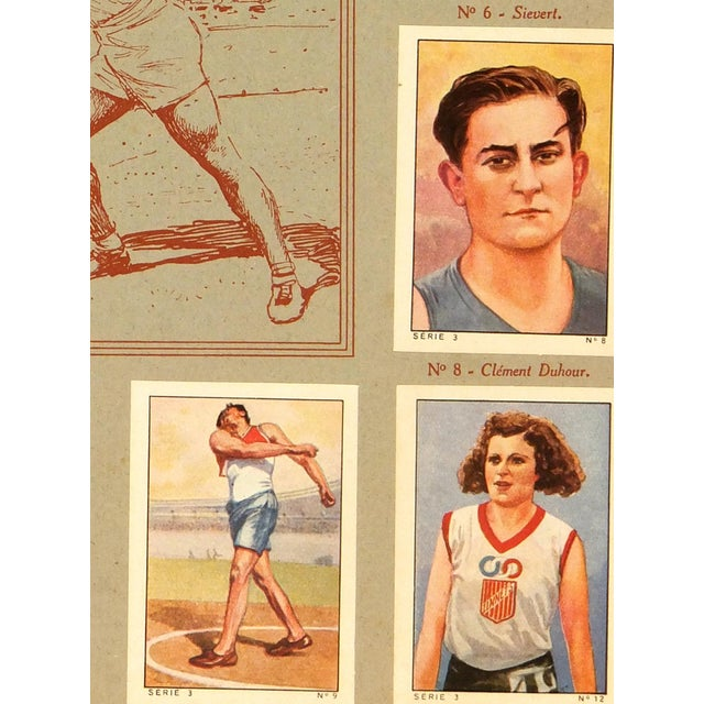Complete set of chocolate bar trading cards from Chocolats Nestlé in France, 1937. Color lithographs show scenes of...