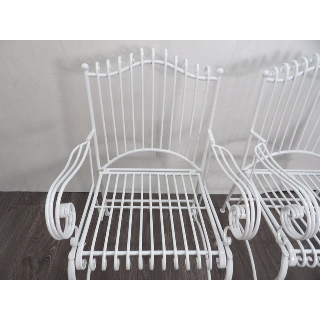 Late 20th Century Outdoor Patio Chairs- A Pair For Sale - Image 5 of 6