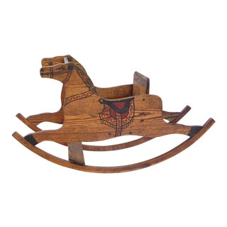 Early 1900's Antique Oak Rocking Horse