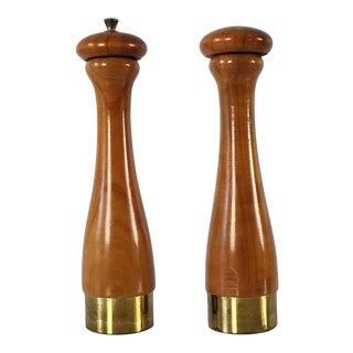 Italian Mid-Century Danish Salt and Pepper Shakers a Pair. For Sale