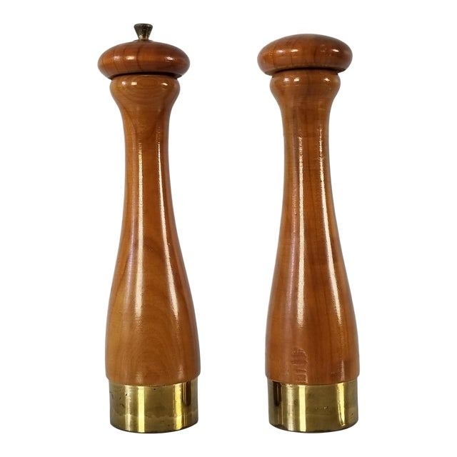 Italian Mid-Century Danish Salt and Pepper Shakers a Pair For Sale