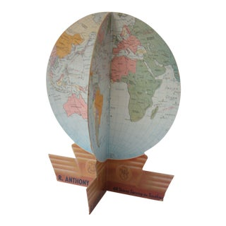 1950s Cr Anthony Company Advertising Globe For Sale