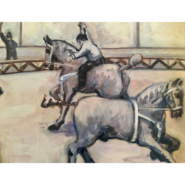 Paint Arthur Smith 'Trick Riding' Original From Circus Series Painting For Sale - Image 7 of 12