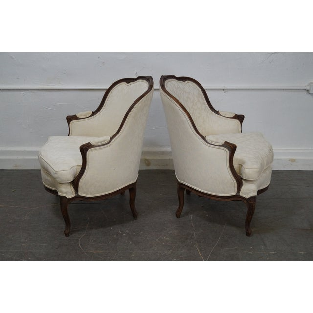 Antique French Louis XV Style Bergere Chairs - Pair - Image 5 of 10