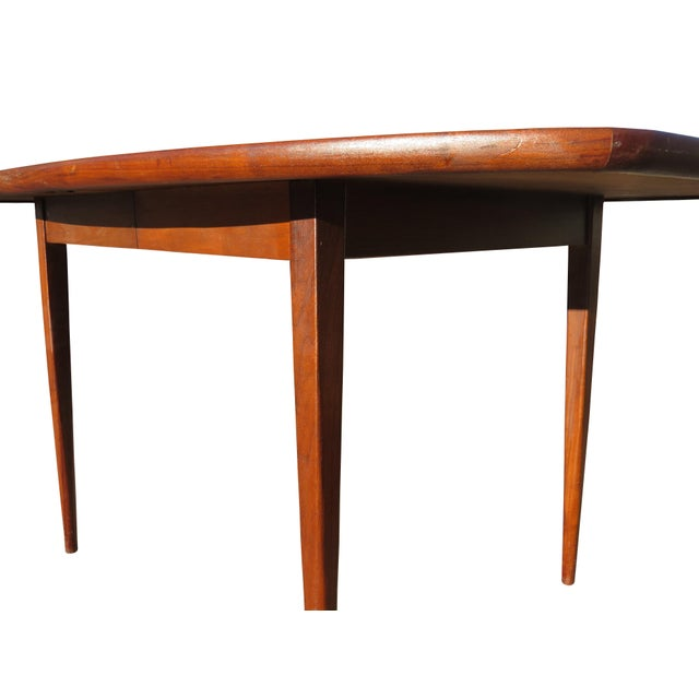 1970's Danish Modern Walnut Extendable Dining Table For Sale - Image 9 of 13