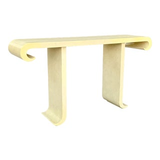 Alessandro for Baker Highly Sculpted Modern Console Table For Sale