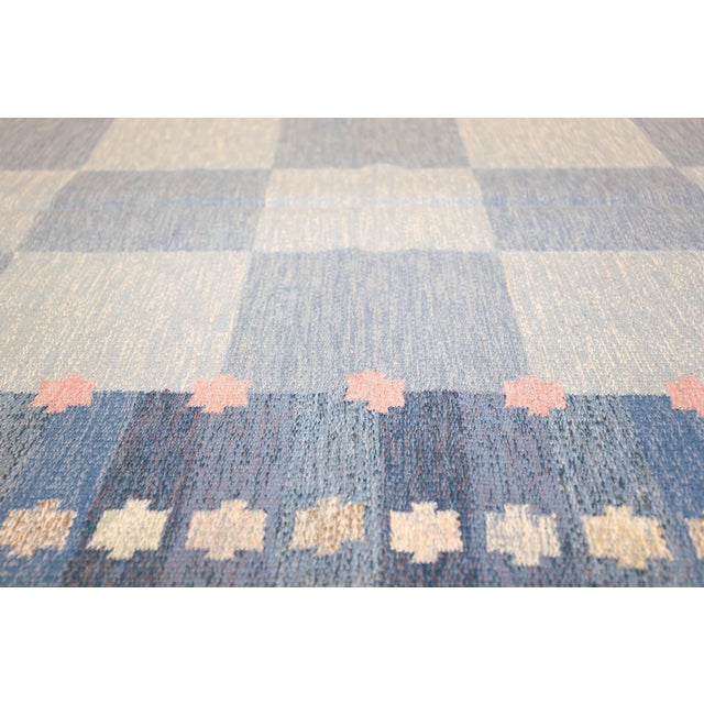 Vintage Swedish Kilim Rug by Anna-Joanna Angstrom - 5′6″ × 7′9″ For Sale - Image 4 of 9