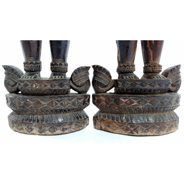 Antique Carved Indian Figures - A Pair - Image 6 of 7