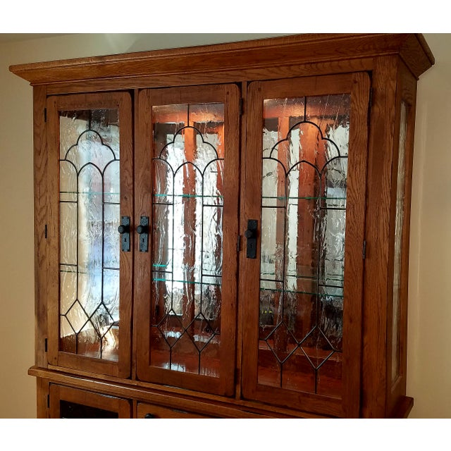 Broyhill Attic Heirlooms Oak China Cabinet Chairish