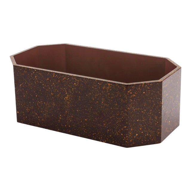 Miles Redd Collection Octagonal Napkin Box in Porphyry For Sale