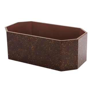 Octagonal Napkin Box in Porphyry - Miles Redd for The Lacquer Company For Sale
