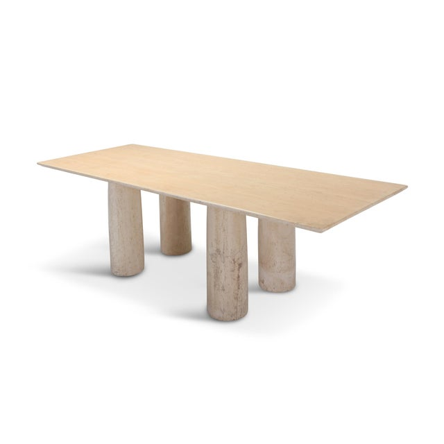 Travertine Dining Table by Mario Bellini 'Il Colonnato' For Sale - Image 11 of 11