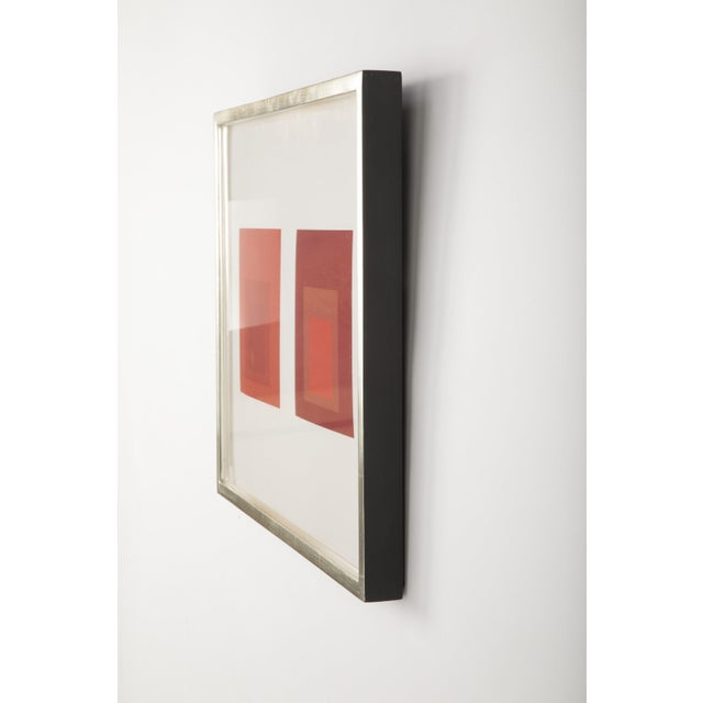 Josef Albers Josef Albers Homage to the Square in Red Print For Sale - Image 4 of 5