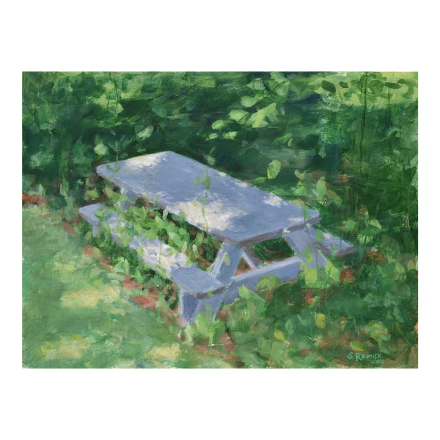 """Forgotten Picnic Table"" Original Painting For Sale"