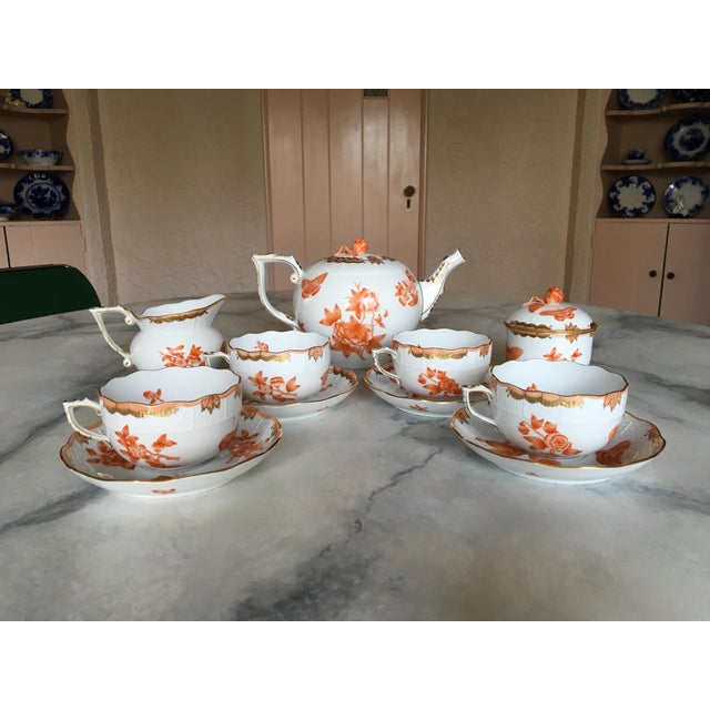 Herend Fortuna Pattern Tea Set - Set of 7 - Image 6 of 11
