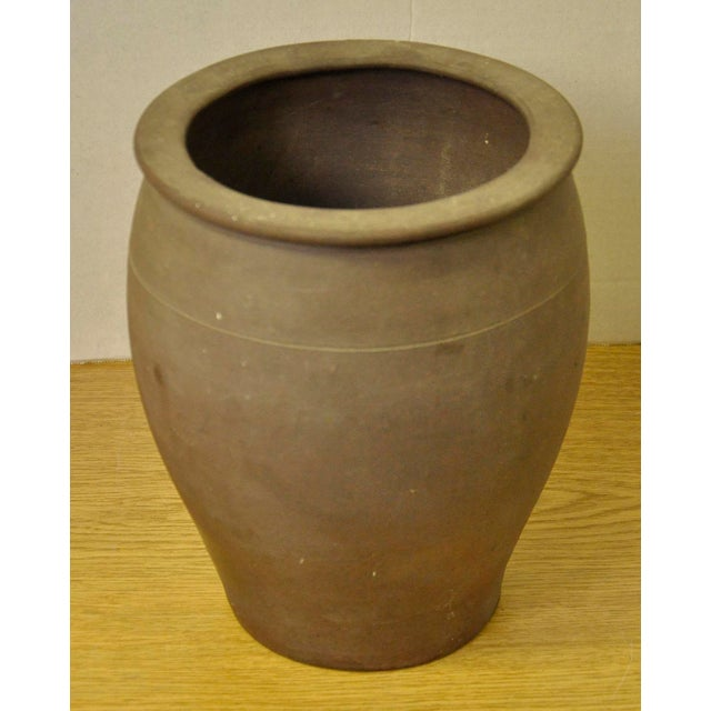 Vintage French Stoneware pot from the Brittany region of France. Hand-made and fired with a matte finish. These pots were...