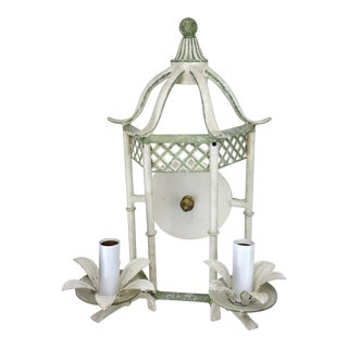 20th Century Shabby Chic Gazebo With Floral Wall Sconce For Sale