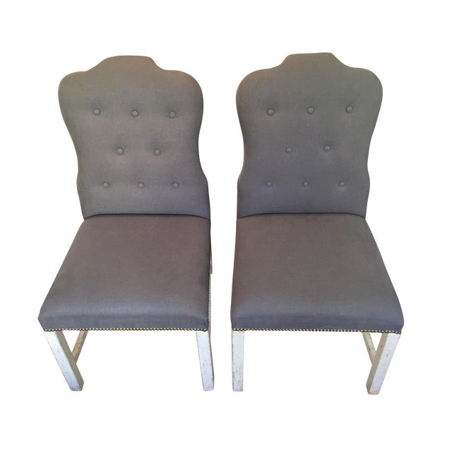 Bunny Williams Designer Jack Dining Chairs - Pair - Image 1 of 6