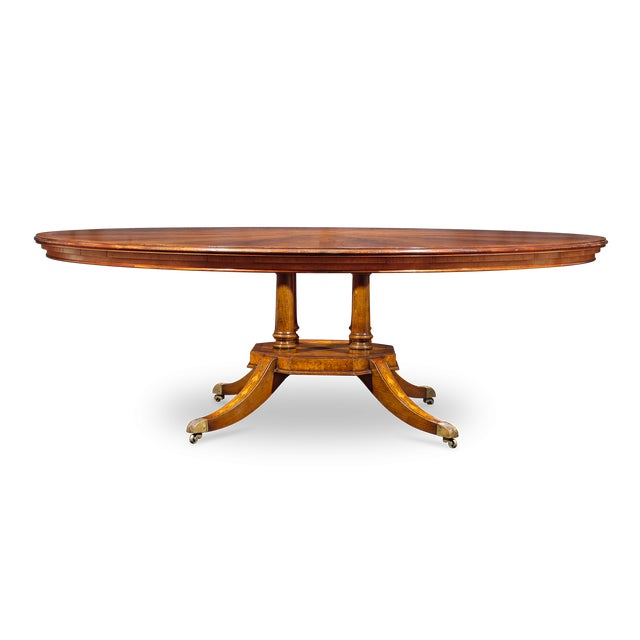 Late 20th Century Flame Mahogany Round Dining Table For Sale - Image 5 of 5