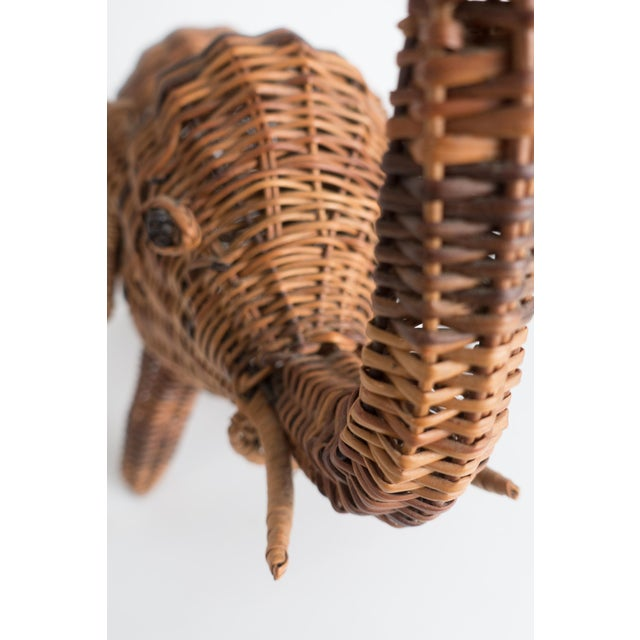 Vintage Wicker Elephant Statue For Sale In Dallas - Image 6 of 13