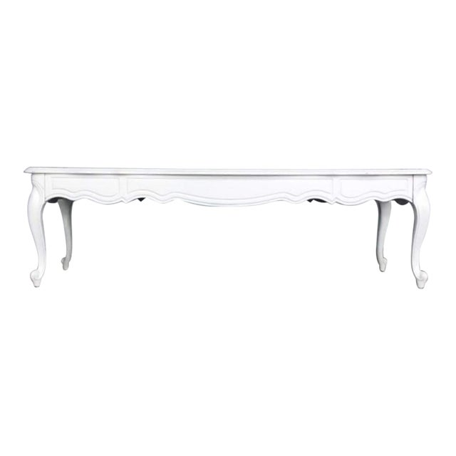 French Provincal White Gloss Coffee Table - Image 1 of 3