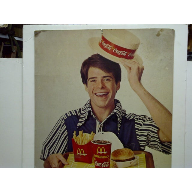 Americana Vintage McDonalds & Coca-Cola Advertising Sign For Sale - Image 3 of 5