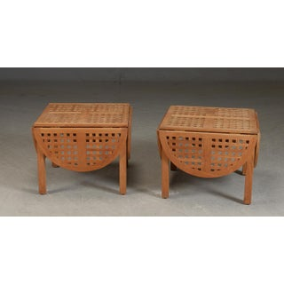 1950s Danish Modern Trip Trap' Teak Side Tables - a Pair Preview