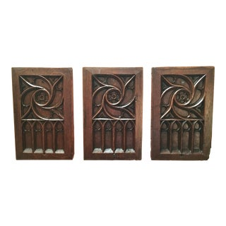 Gothic Revival Panels - Set of 3 For Sale