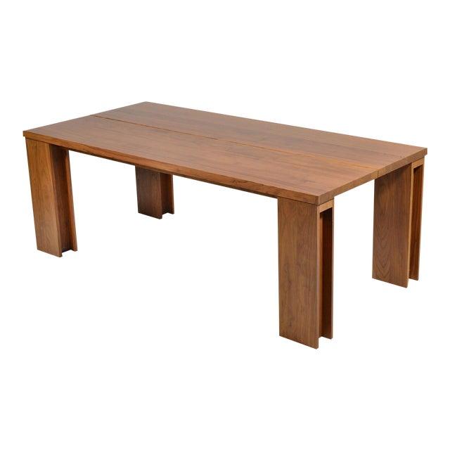 """De La Espada """"Long"""" Table in Black Walnut For Sale"""