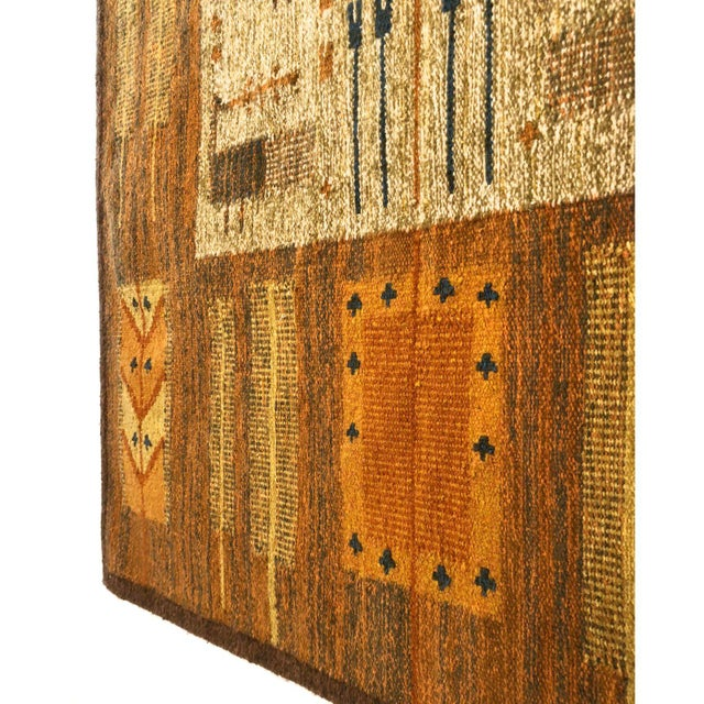 Folk Art 1960s Wall Hung Tapestry - 3′6″ × 4′11″ For Sale - Image 3 of 9