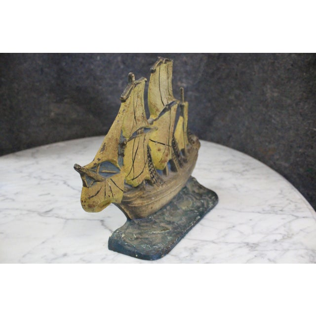 Traditional Late 20th Century Vintage Mayflower Doorstop For Sale - Image 3 of 5