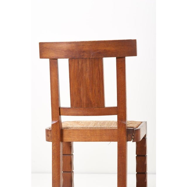 Set of Six Wooden Chairs by Jacques Mottheau, France, 1930s For Sale - Image 10 of 13