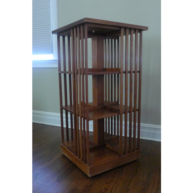 Stickley Mission Cherry Revolving Bookcase - Image 2 of 6