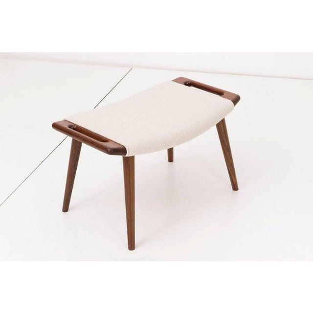 Hans J. Wegner Papa Bear Chair and Ottoman - Image 6 of 7