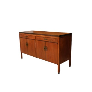 Mid Century Walnut Credenza Calvin Furniture Co. Attributed to Kipp Stewart For Sale