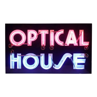 "1950's Original Neon ""Optical House"" Sign"