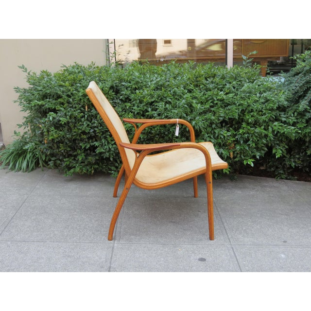 Swedese Mobler Mid Century Modern Mini-Lamino Leather Chair For Sale - Image 4 of 7