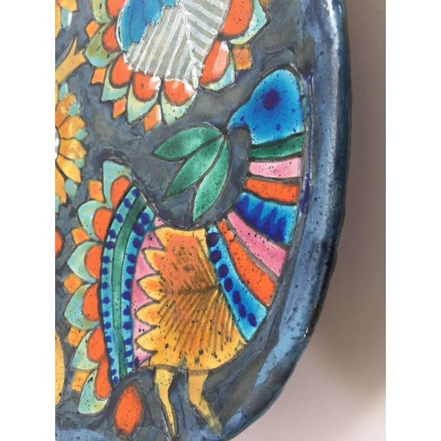 Hand-Painted Charger by Master Potter Marjatta Taburet Quimper France Circa 1960 For Sale - Image 4 of 10