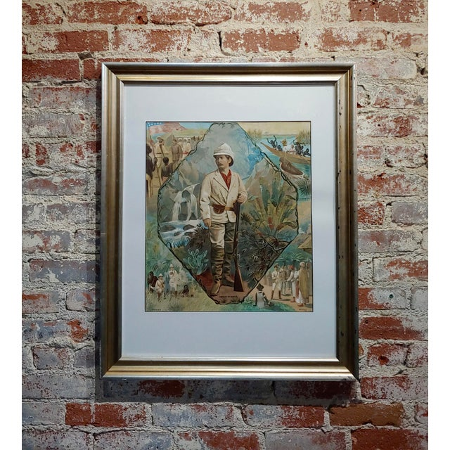 Stanley in Africa Looking for Livingstone-Original Silkscreen Lithograph For Sale - Image 10 of 10