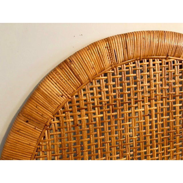 Vintage Mid-Century Arched Cane Rattan Twin Headboards - a Pair - Image 3 of 9