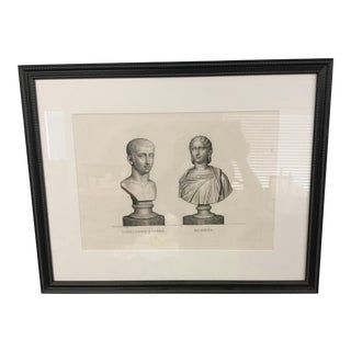 "Early 19th Century ""Alexandre-Severe Mamme."" Framed Engraving Print"